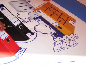 Autocolant Printat si Decupat la Cutter Plotter