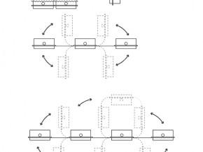 Bannere tensionate - Stealth - variante de asezare