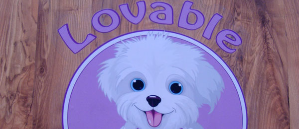 Autocolant Podea – Lovable Dog