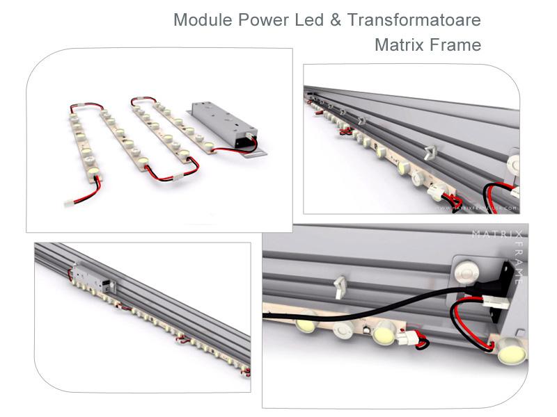 Casete Luminoase LED Matrix Frame